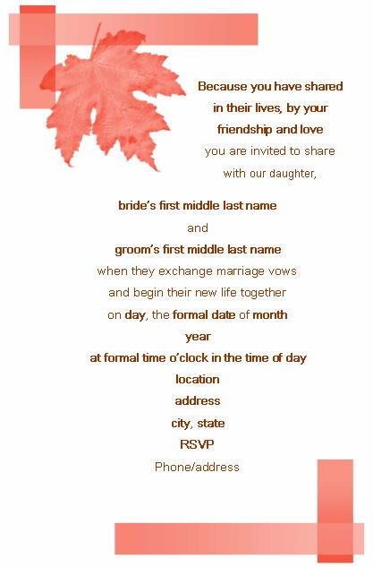 formal wedding invitation mail format invitationscriativeco